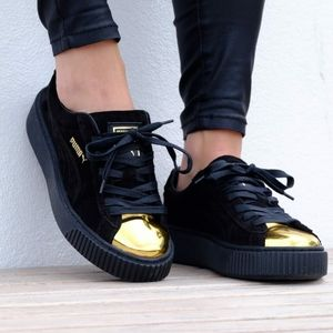 Puma Suede Platform Gold Sneakers Casual